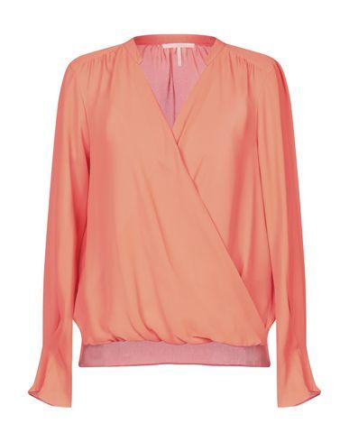 Maison Scotch   Оранжевый; Желтый; Темно-синий Женская оранжевая блузка MAISON SCOTCH креп   Clouty