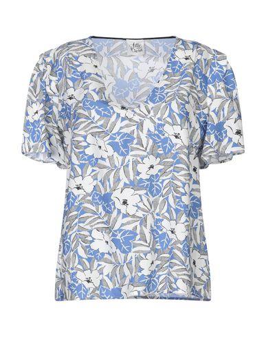Attic And Barn   Синий Женская синяя блузка ATTIC AND BARN жаккардовая ткань   Clouty