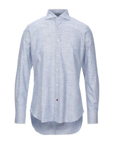 Càrrel | Синий Мужская синяя рубашка CARREL плотная ткань | Clouty