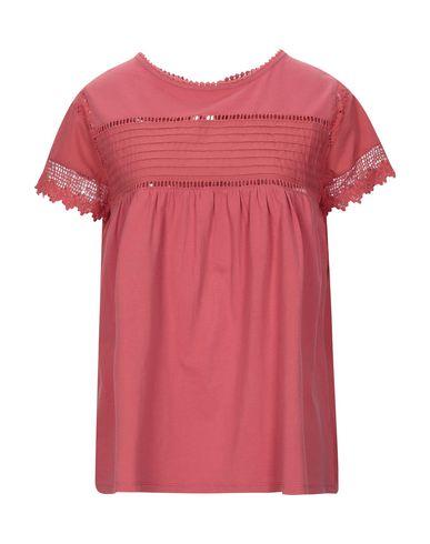 Semicouture | Красный; Белый Женская красная футболка SEMICOUTURE кружево | Clouty