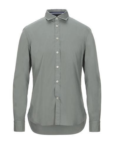 Fradi | Зеленый-милитари Мужская рубашка FRADI поплин | Clouty