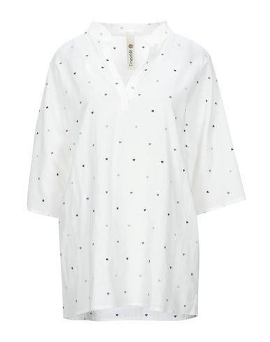 Empathie | Белый Женская белая рубашка EMPATHIE плотная ткань | Clouty