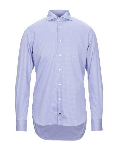 Càrrel   Синий Мужская синяя рубашка CARREL плотная ткань   Clouty