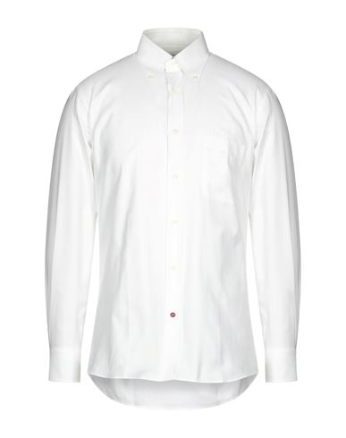 Càrrel | Белый Мужская белая рубашка CARREL парусина | Clouty