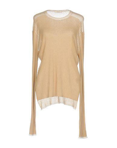 CELINE | Женский песочный свитер CELINE вязаное изделие | Clouty