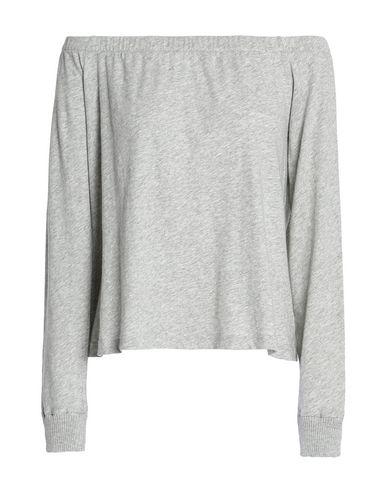 Enza Costa | Светло-серый Женская светло-серая футболка ENZA COSTA джерси | Clouty