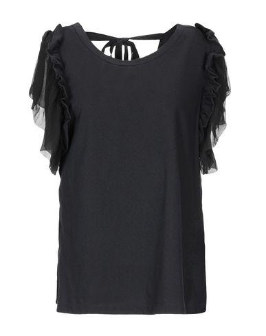 No. 21 | Черный; Белый Женская черная блузка N°21 джерси | Clouty