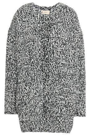 Ba&Sh | Ba&sh Woman Two-tone Wool-blend Cardigan Black | Clouty