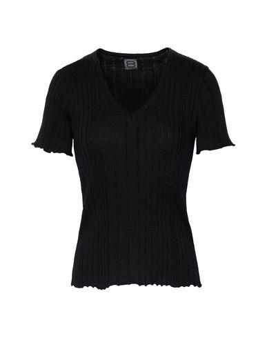8 By Yoox | Женский черный свитер 8 by YOOX Мини-пуловер с короткими рукавами | Clouty