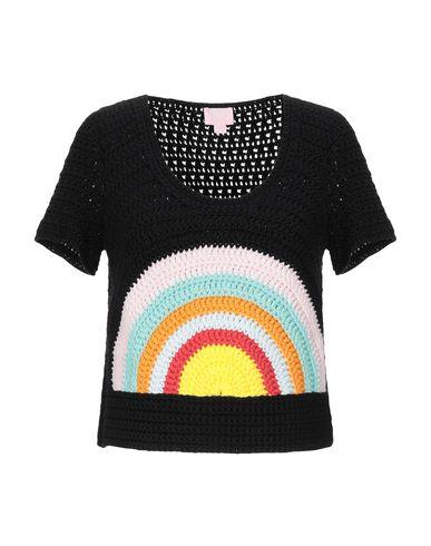 Giamba | Женский черный свитер GIAMBA алькантара® | Clouty