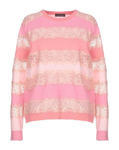 Twin-Set | Женский розовый свитер TWINSET кружево | Clouty