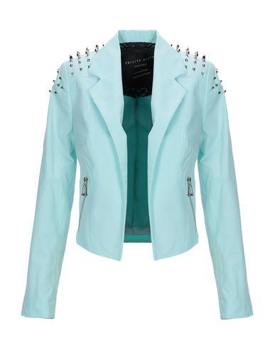 Philipp Plein | Небесно-голубой Женский пиджак PHILIPP PLEIN плотная ткань | Clouty