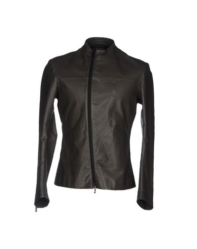 Emporio Armani | Зеленый-милитари Мужская куртка EMPORIO ARMANI кожа | Clouty