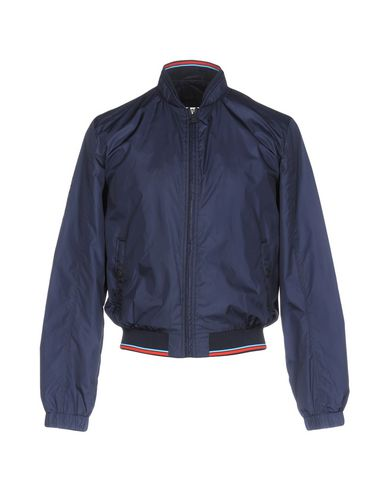 TRUSSARDI   Темно-синий Мужская темно-синяя куртка TRUSSARDI JEANS Техническая ткань   Clouty