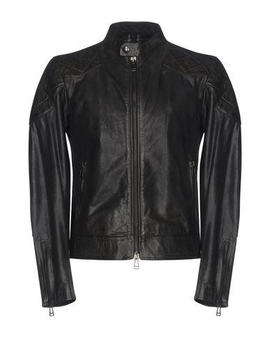 Belstaff | Черный Мужская черная куртка BELSTAFF кожа | Clouty