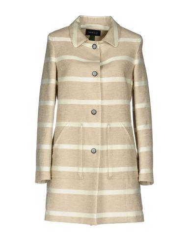 IANUX #THINKCOLORED | Бежевый Женское бежевое легкое пальто IANUX #THINKCOLORED плотная ткань | Clouty