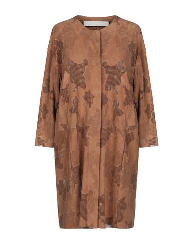 DROMe | Коричневый Женское коричневое легкое пальто DROMe кожа | Clouty