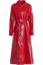 Isabel Marant Woman Belted Coated Cotton Trench Coat Red Size 38
