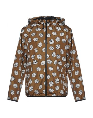 MSGM | Коричневый Мужское коричневое легкое пальто MSGM техническая ткань | Clouty