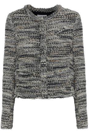 IRO   Iro Woman Carene Boucle-tweed Jacket Gray   Clouty