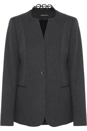 Elie Tahari | Elie Tahari Woman Tori Cotton-blend Twill Blazer Charcoal Size 10 | Clouty