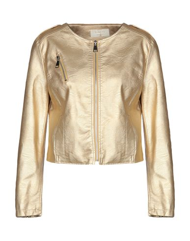 Kaos   Золотистый Женская золотистая куртка KAOS JEANS искусственная кожа   Clouty