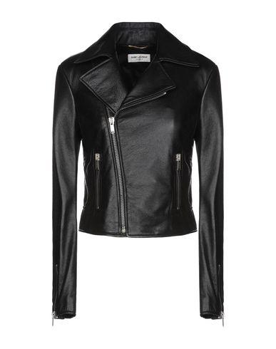 SAINT LAURENT | Черный Женская черная куртка SAINT LAURENT кожа | Clouty