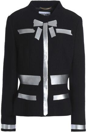 MOSCHINO | Moschino Woman Metallic-coated Wool-blend Boucle Jacket Black Size 44 | Clouty