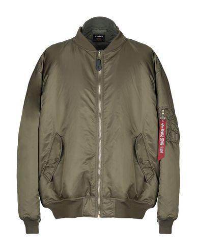 VETEMENTS | Зеленый-милитари Мужская куртка VETEMENTS x ALPHA INDUSTRIES, INC. техническая ткань | Clouty