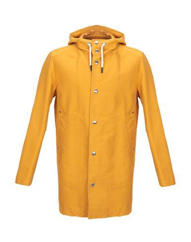 DOPPIAA | Охра; Ржаво-коричневый; Грифельно-синий Мужское легкое пальто DOPPIAA техническая ткань | Clouty