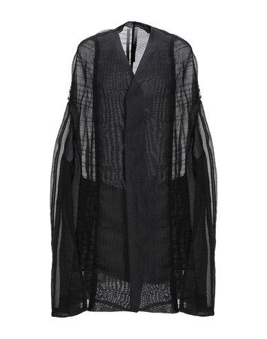 RICK OWENS | Черный Женское черное легкое пальто RICK OWENS органза | Clouty