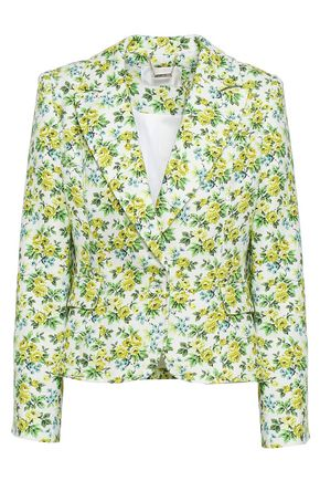 Zimmermann | Zimmermann Woman Floral-print Linen Blazer White | Clouty
