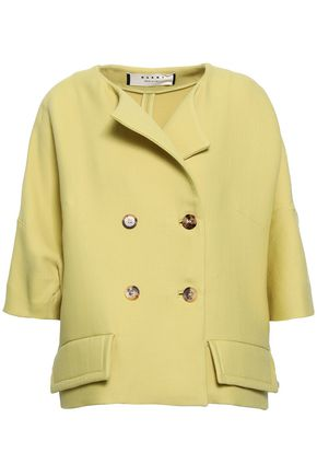 Marni   Marni Woman Double-breasted Wool Jacket Chartreuse   Clouty