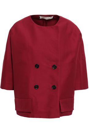 Marni | Marni Woman Double-breasted Cotton Jacket Plum | Clouty