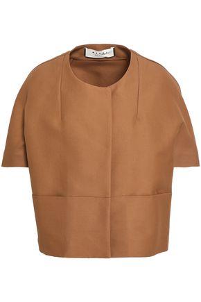 Marni | Marni Woman Cotton-cady Jacket Brown | Clouty