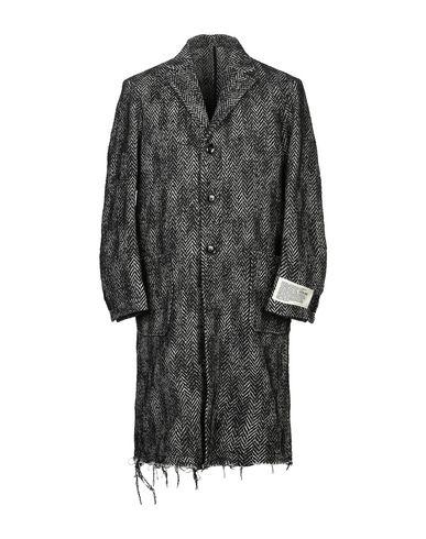 DIESEL | Черный Мужское черное пальто DIESEL фланель | Clouty
