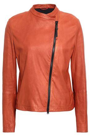 Brunello Cucinelli | Brunello Cucinelli Woman Leather Jacket Copper | Clouty