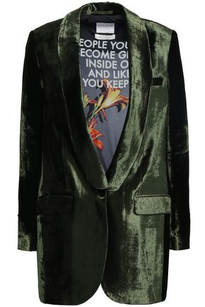 Each X Other | Each X Other Woman Velvet Blazer Army Green | Clouty