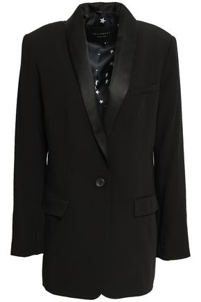 Equipment | Equipment Woman Satin-trimmed Twill Blazer Black | Clouty