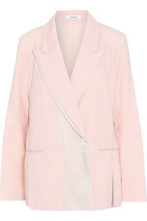 ADEAM | Adeam Woman Iridescent Satin-paneled Wool-blend Blazer Pastel Pink | Clouty