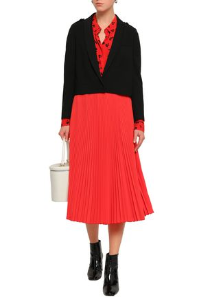 Ba&Sh | Ba&sh Woman Tali Cropped Twill Jacket Black | Clouty