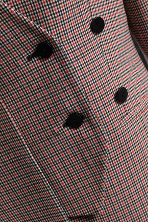 Cédric Charlier | Cedric Charlier Woman Checked Virgin Wool-blend Blazer Red | Clouty