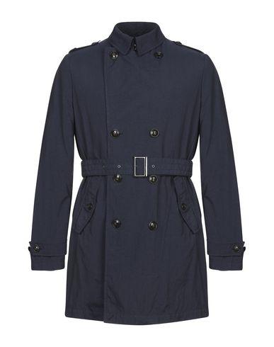 M.I.D.A. | Темно-синий Мужское темно-синее легкое пальто M.I.D.A. плотная ткань | Clouty