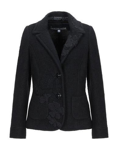 Paolo Petrone | Женский черный пиджак PAOLO PETRONE вязаное изделие | Clouty