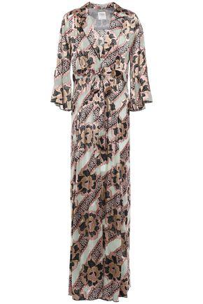 Anna Sui | Anna Sui Woman Printed Burnout Satin Kimono Baby Pink | Clouty