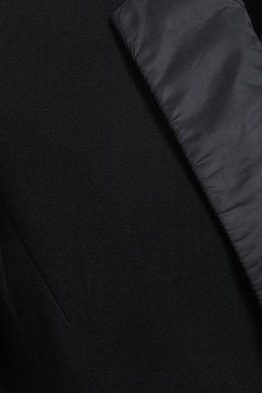 RICK OWENS   Rick Owens Woman Shell-trimmed Wool-crepe Blazer Black   Clouty