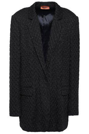 Missoni   Missoni Woman Metallic Crochet-knit Blazer Black   Clouty