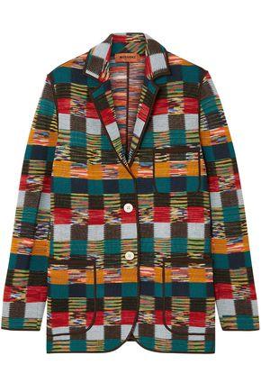 Missoni | Missoni Woman Checked Crochet-knit Wool Jacket Emerald | Clouty