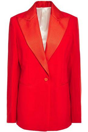 JOSEPH | Joseph Woman New Steed Grain De Poudre Wool Blazer Tomato Red | Clouty