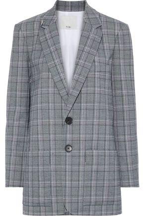 TIBI | Tibi Woman James Embellished Checked Jacquard Blazer Anthracite | Clouty